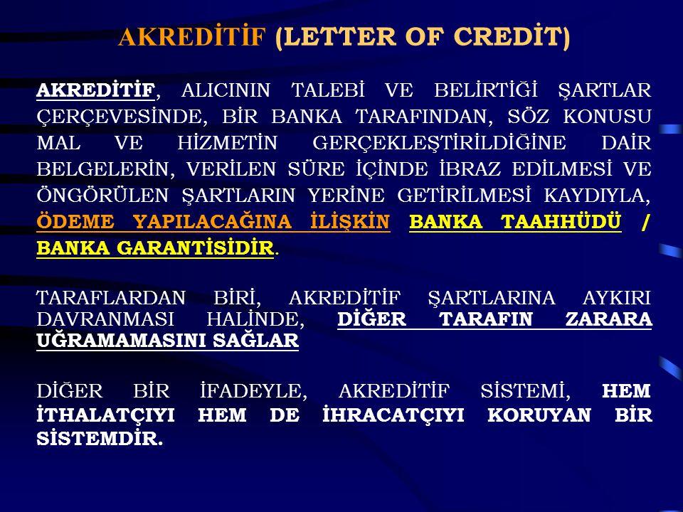AKREDİTİF (LETTER OF CREDİT)