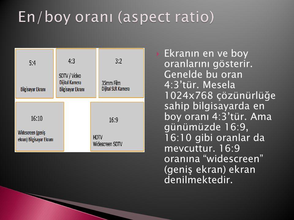 En/boy oranı (aspect ratio)