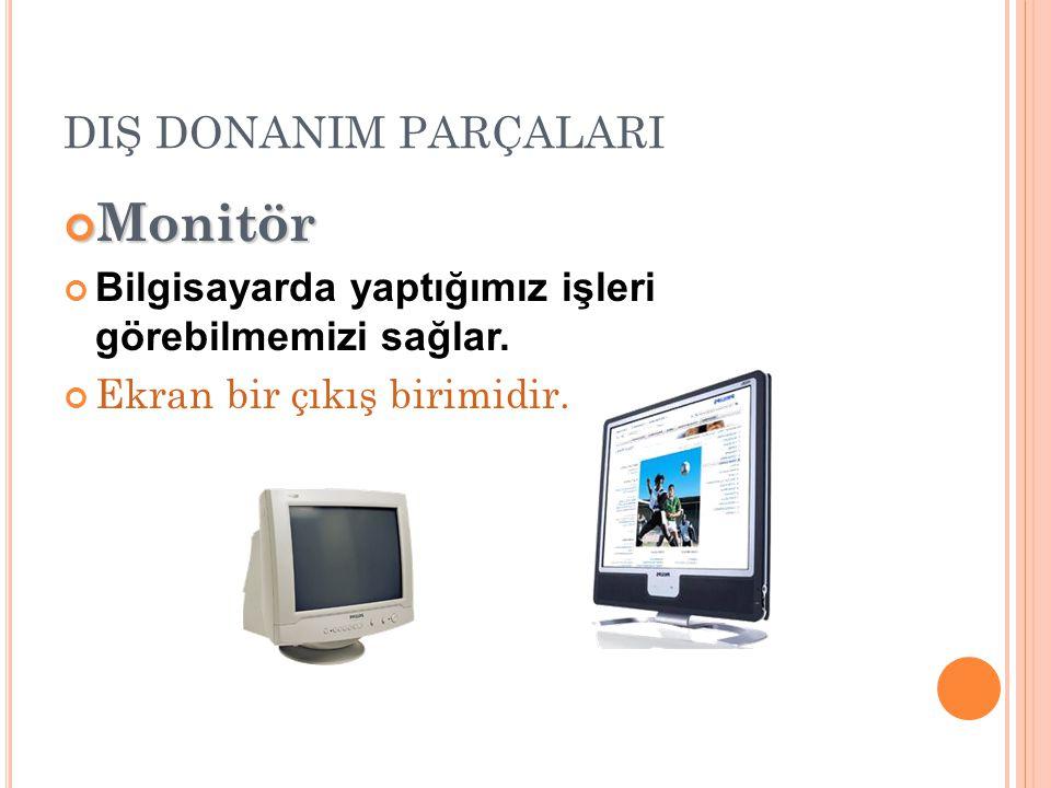 Monitör DIŞ DONANIM PARÇALARI