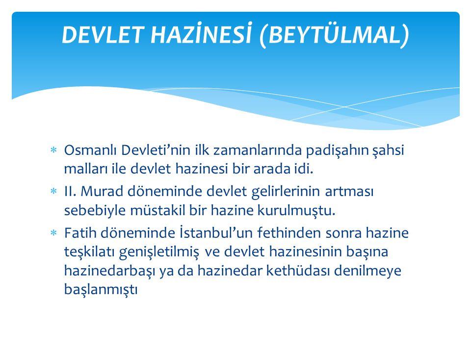 DEVLET HAZİNESİ (BEYTÜLMAL)
