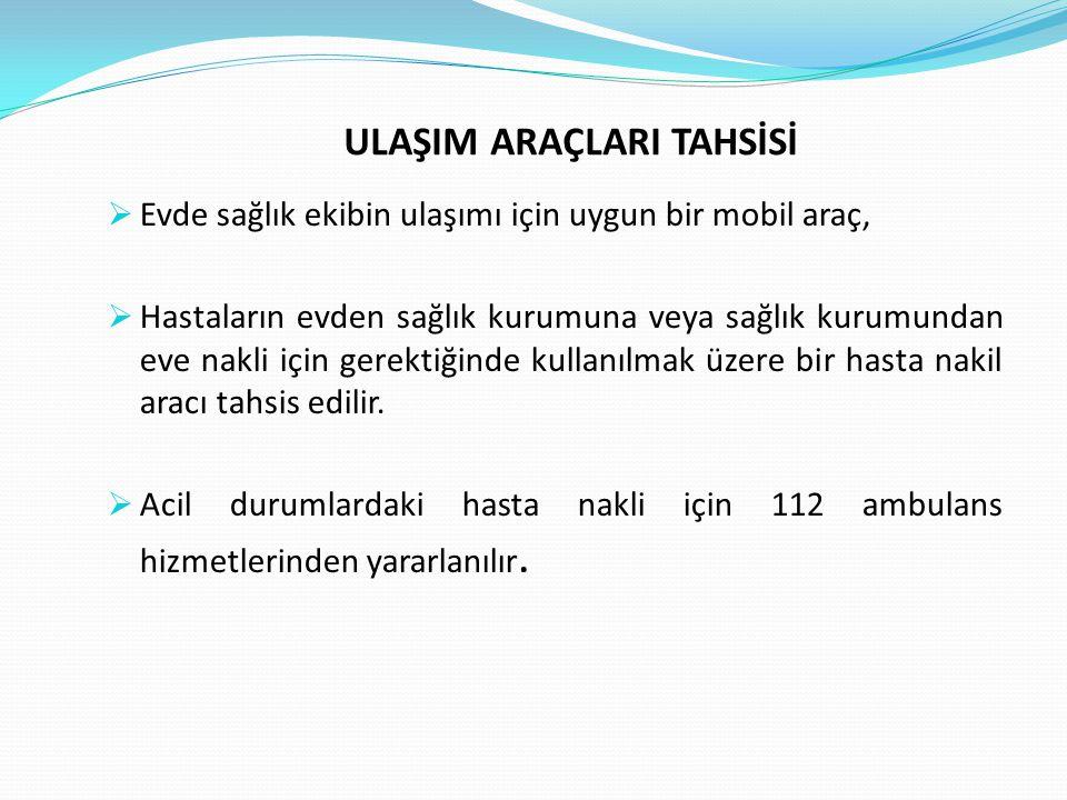 ULAŞIM ARAÇLARI TAHSİSİ