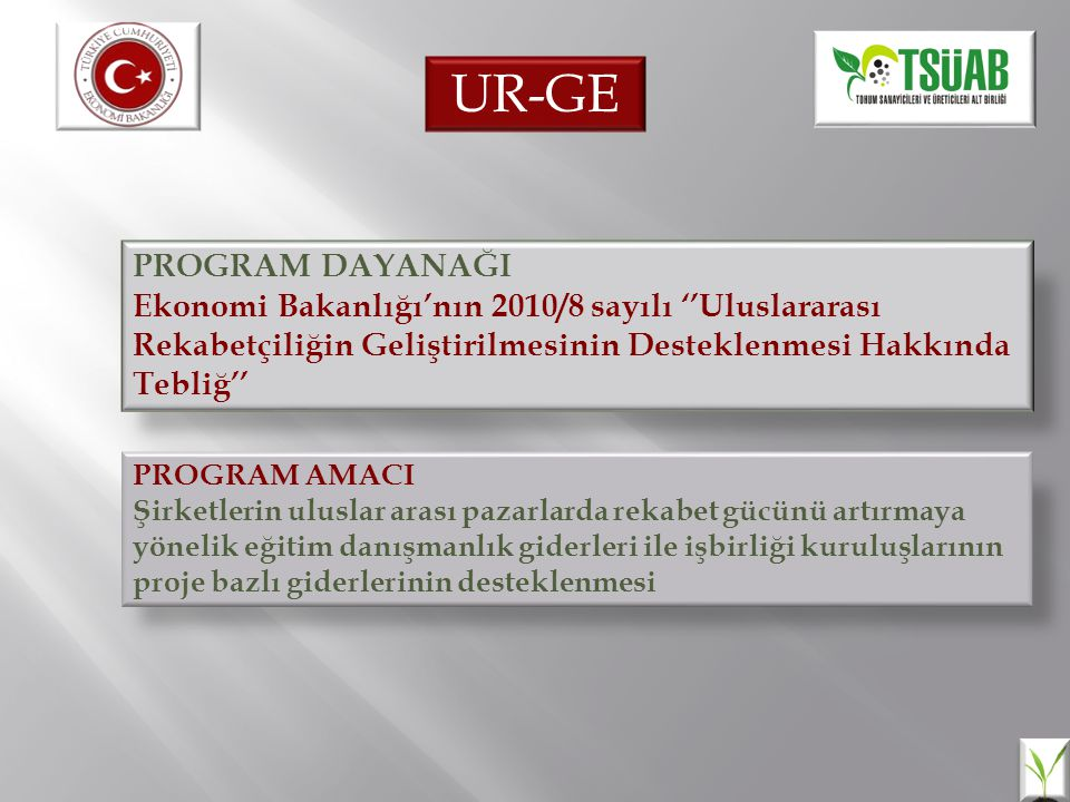 UR-GE PROGRAM DAYANAĞI