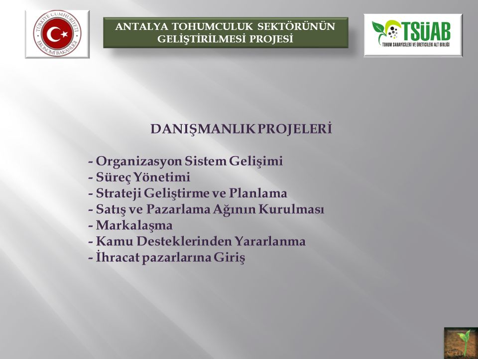 DANIŞMANLIK PROJELERİ