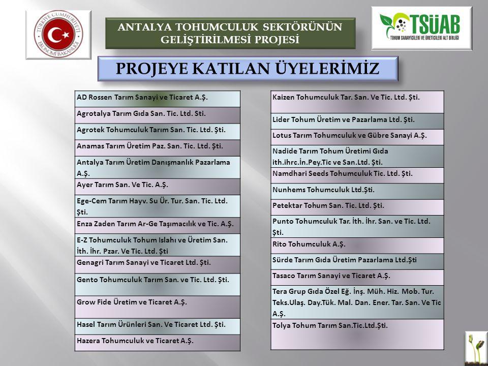 PROJEYE KATILAN ÜYELERİMİZ