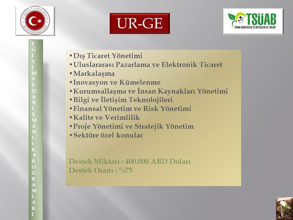 UR-GE •Dış Ticaret Yönetimi