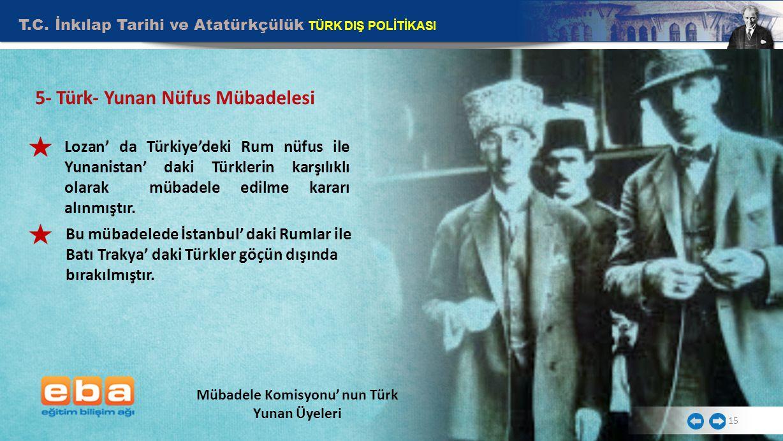 Mübadele Komisyonu' nun Türk Yunan Üyeleri