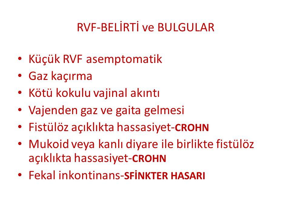 RVF-BELİRTİ ve BULGULAR