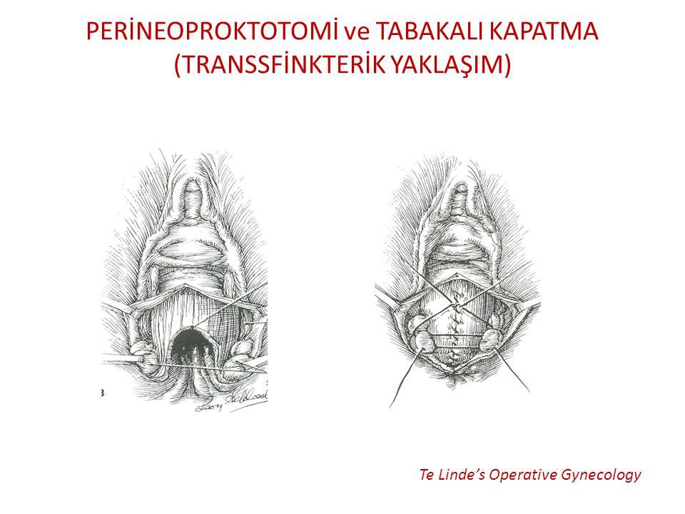 PERİNEOPROKTOTOMİ ve TABAKALI KAPATMA (TRANSSFİNKTERİK YAKLAŞIM)