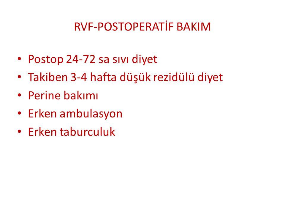 RVF-POSTOPERATİF BAKIM