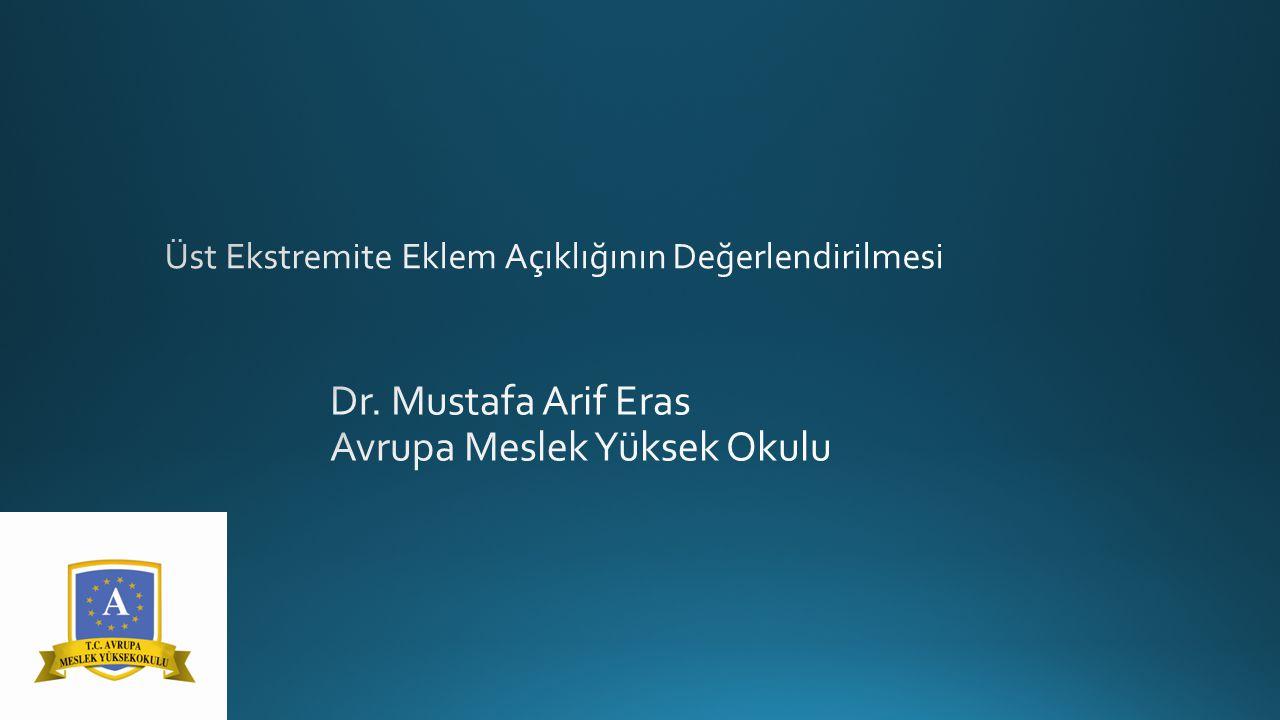 Dr. Mustafa Arif Eras Avrupa Meslek Yüksek Okulu