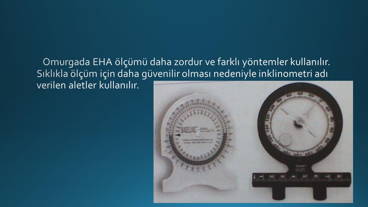Omurgada EHA ölçümü daha zordur ve farklı yöntemler kullanılır
