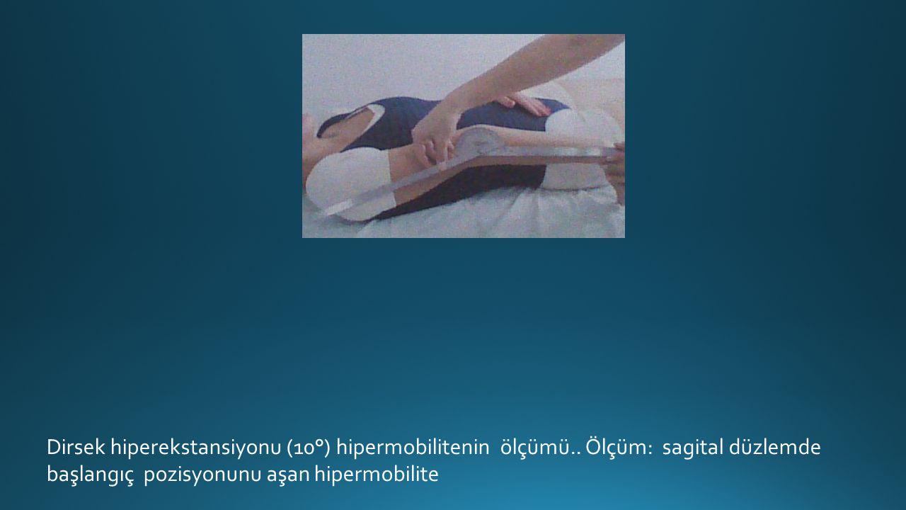 Dirsek hiperekstansiyonu (10°) hipermobilitenin ölçümü