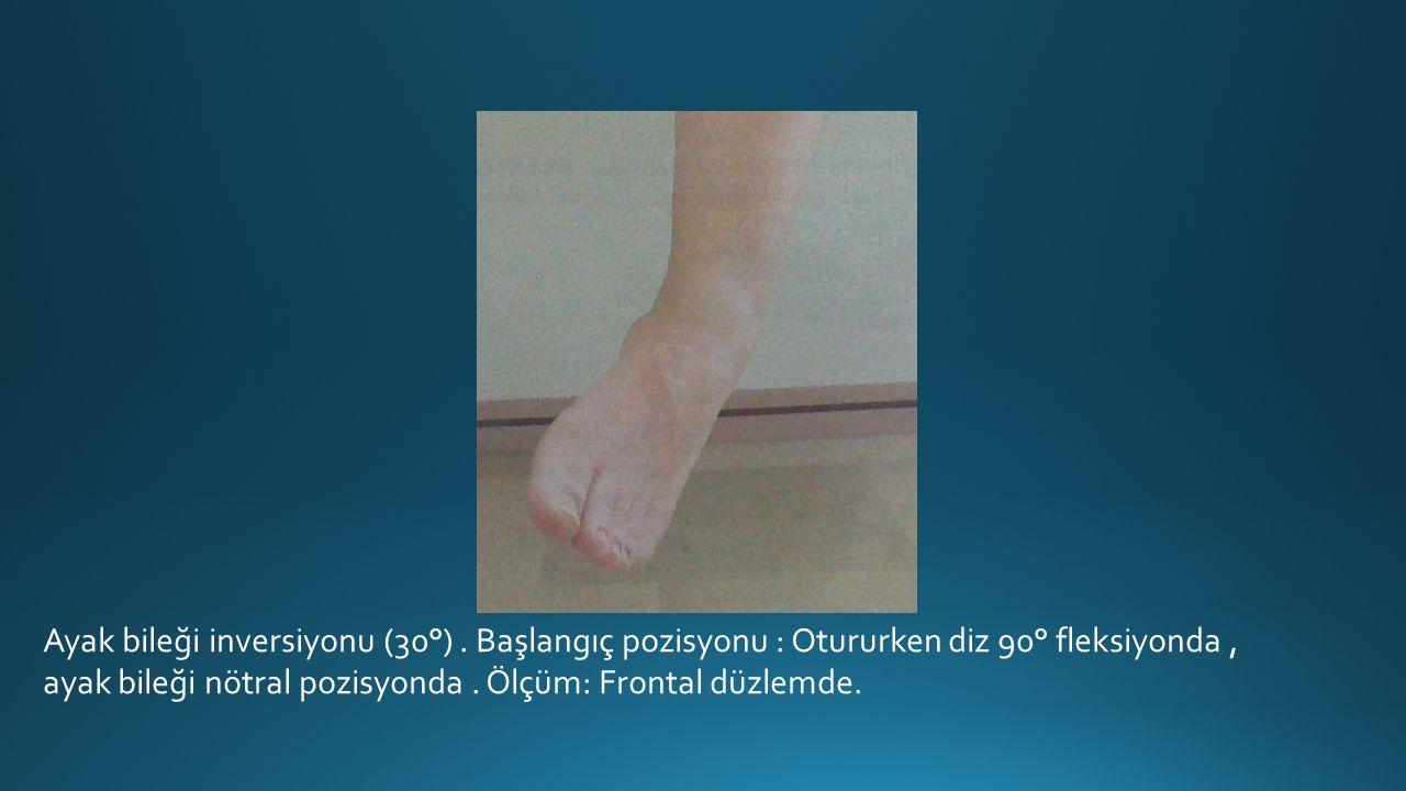 Ayak bileği inversiyonu (30°)