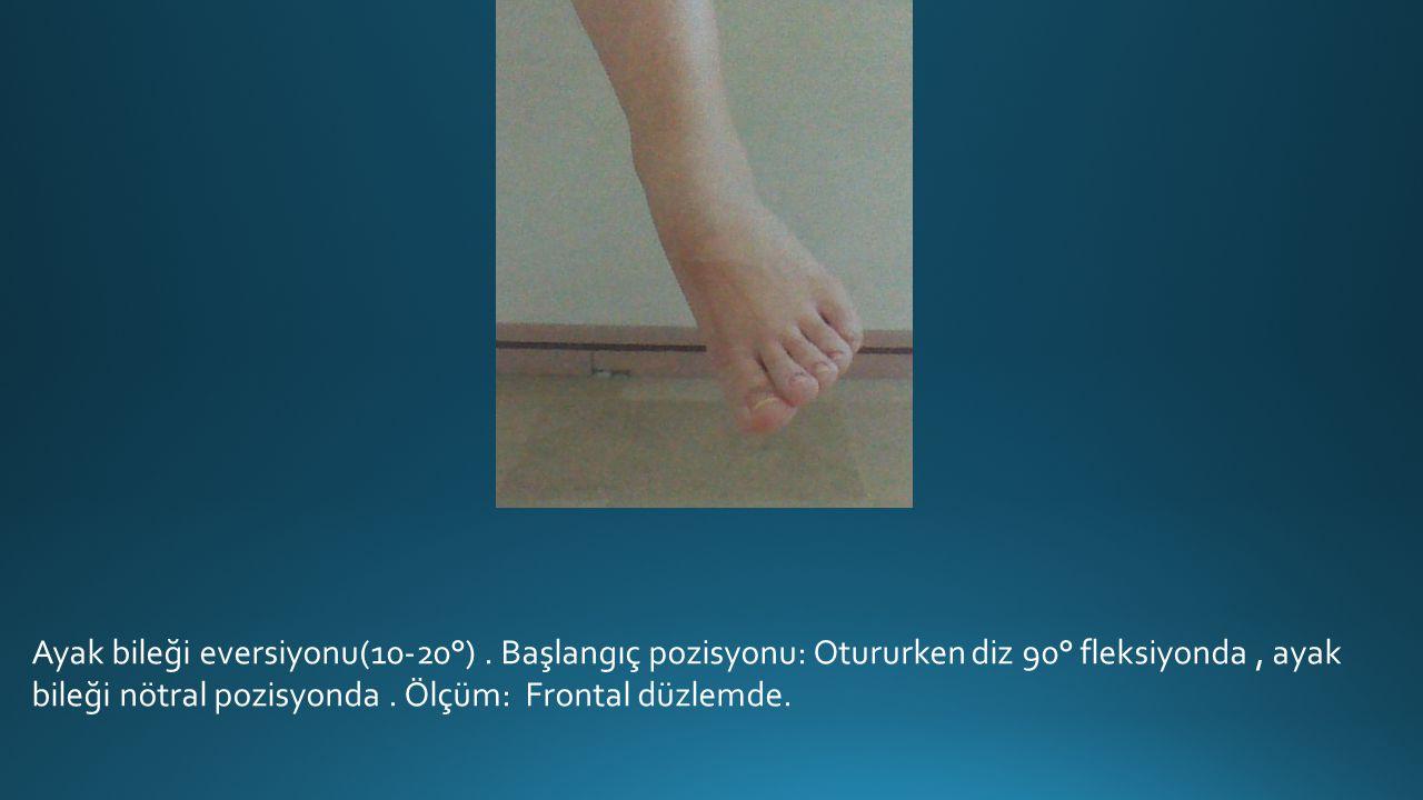 Ayak bileği eversiyonu(10-20°)