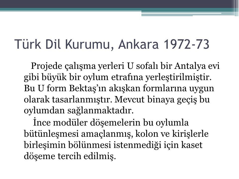 Türk Dil Kurumu, Ankara 1972-73