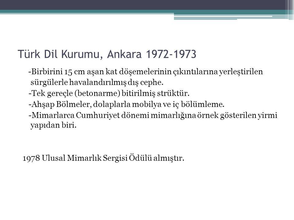 Türk Dil Kurumu, Ankara 1972-1973