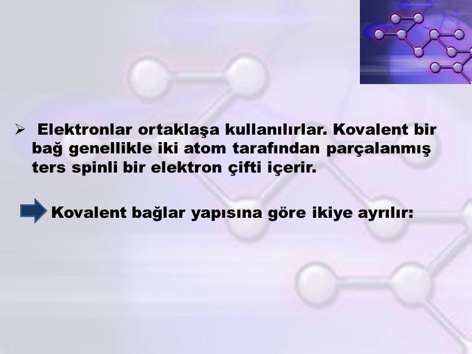 Elektronlar ortaklaşa kullanılırlar