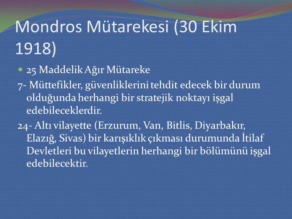 Mondros Mütarekesi (30 Ekim 1918)