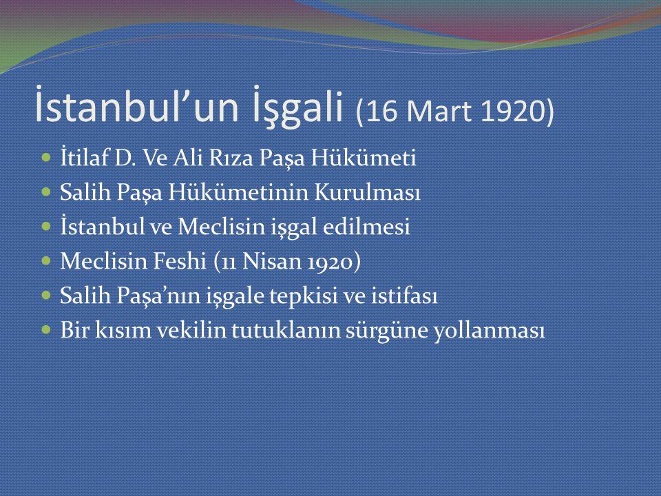 İstanbul'un İşgali (16 Mart 1920)