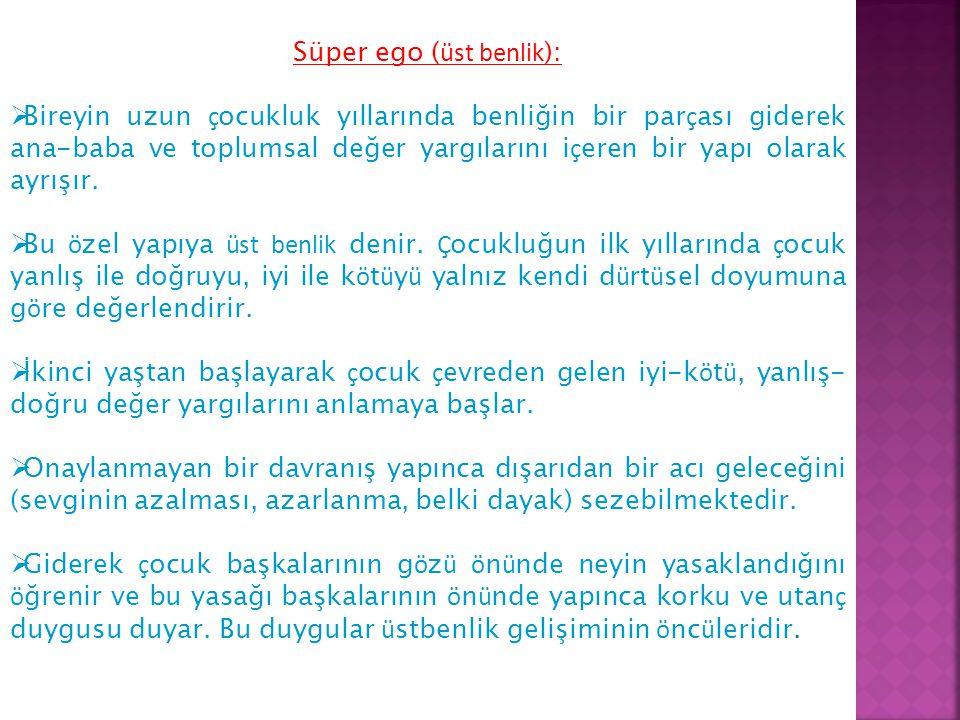 Süper ego (üst benlik):