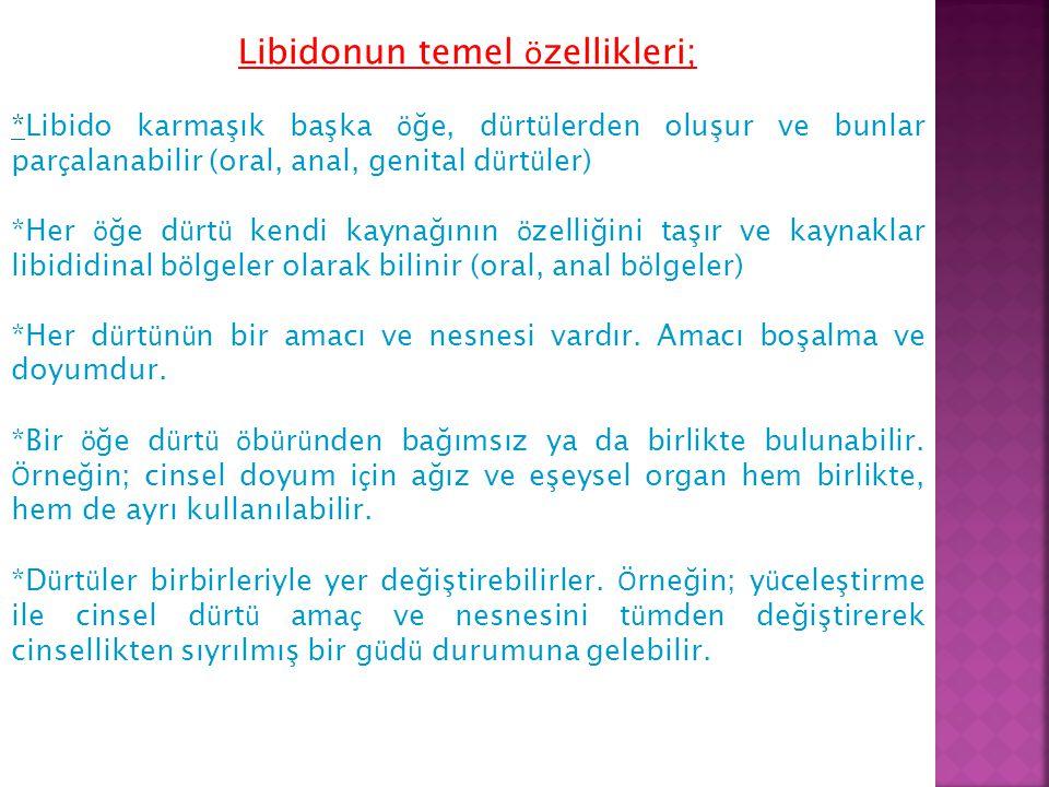 Libidonun temel özellikleri;