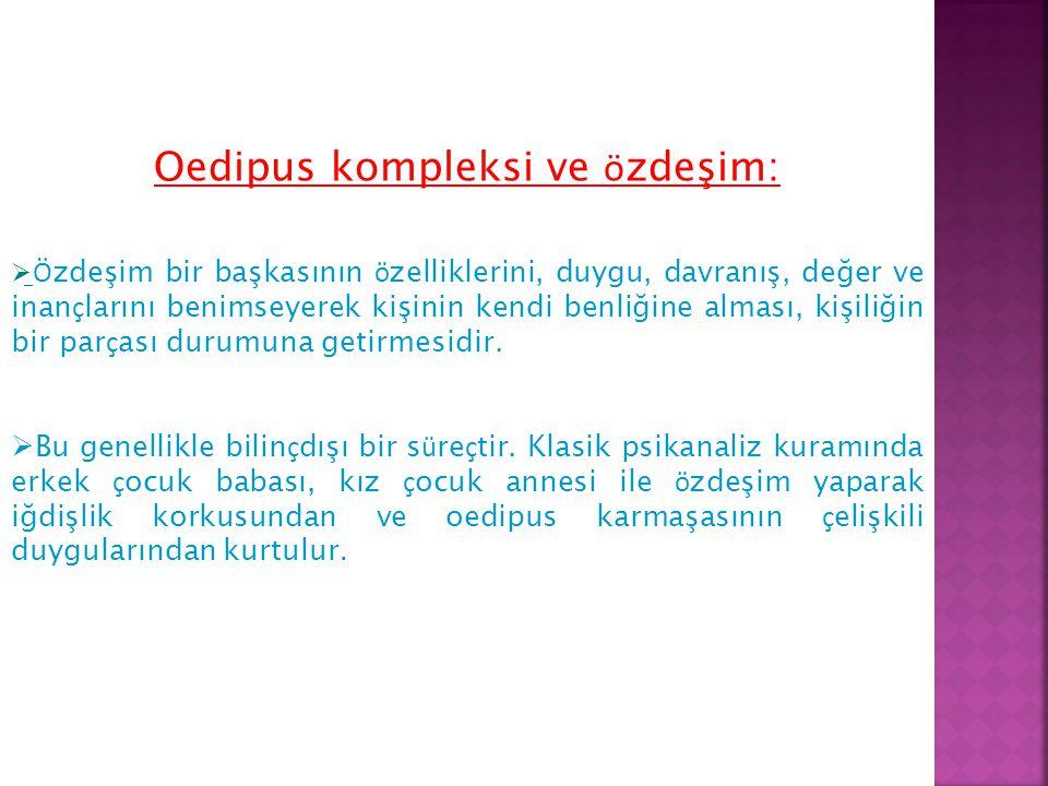 Oedipus kompleksi ve özdeşim: