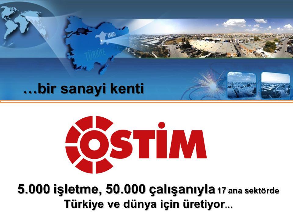 …bir sanayi kenti 5.000 işletme, 50.000 çalışanıyla 17 ana sektörde Türkiye ve dünya için üretiyor…