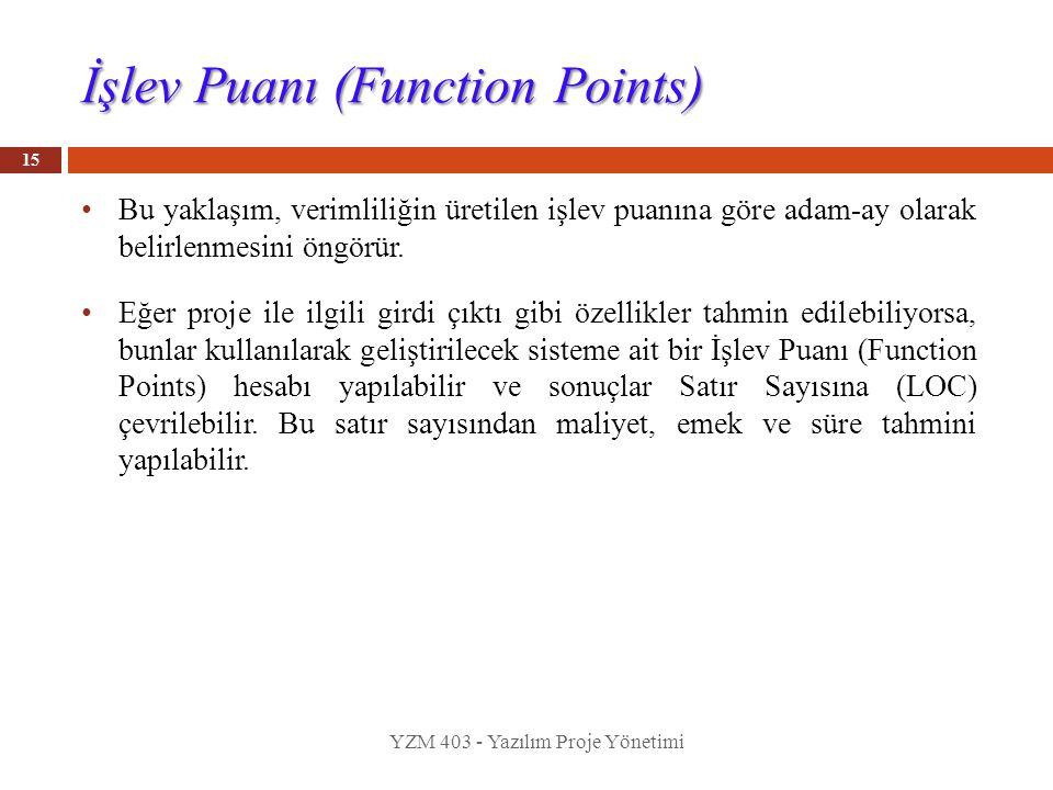 İşlev Puanı (Function Points)