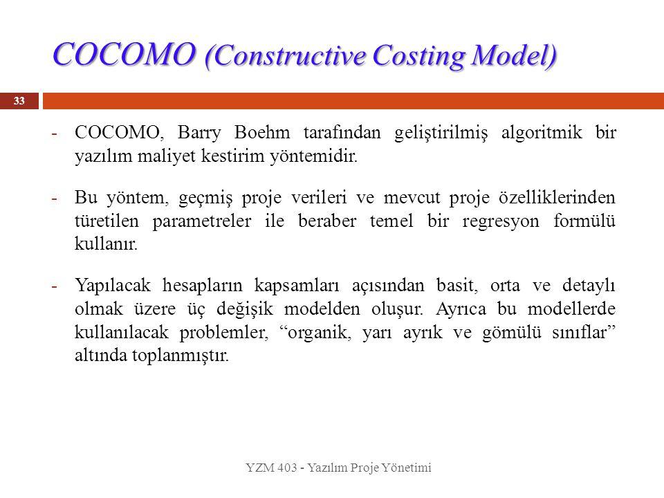 COCOMO (Constructive Costing Model)