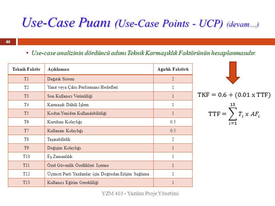 Use-Case Puanı (Use-Case Points - UCP) (devam…)
