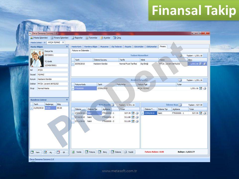 Finansal Takip www.metasoft.com.tr
