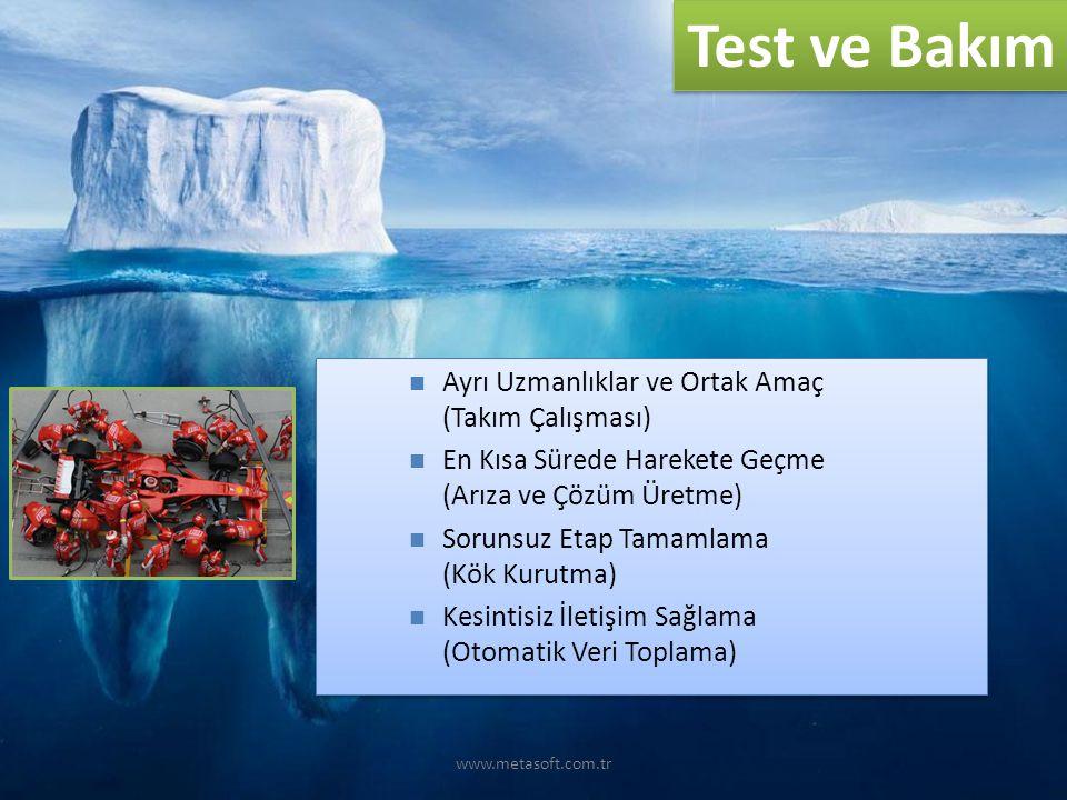 Test ve Bakım Ayrı Uzmanlıklar ve Ortak Amaç (Takım Çalışması)