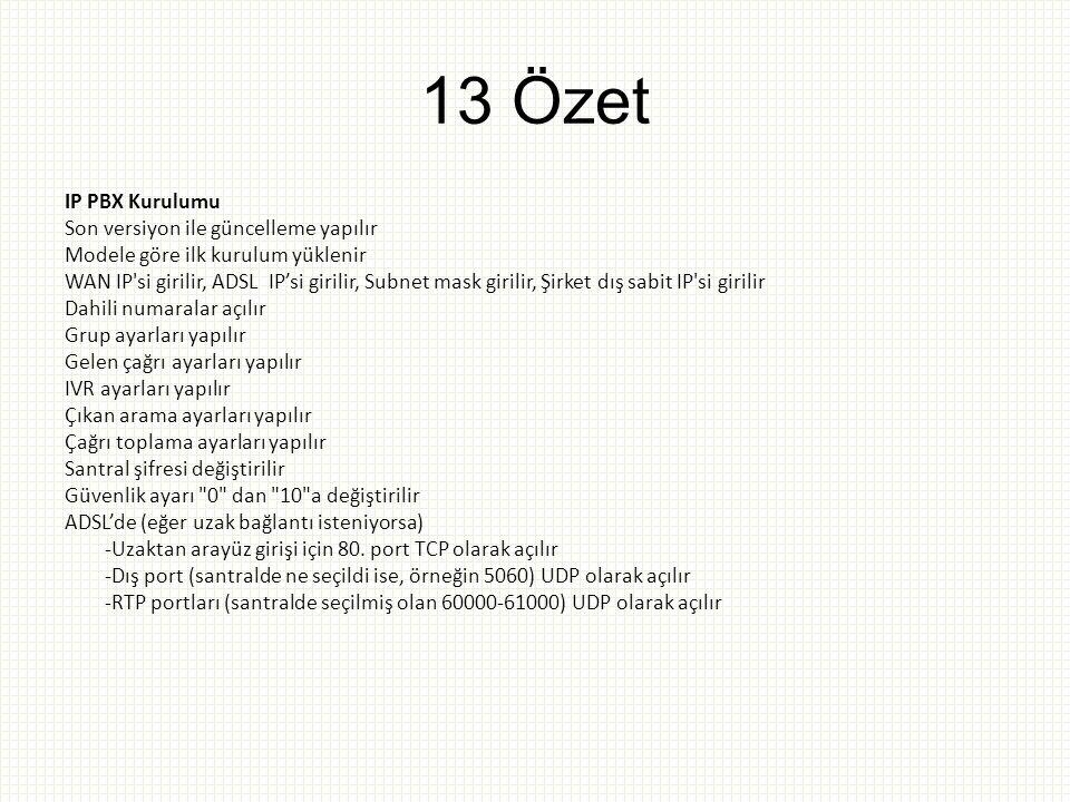 13 Özet