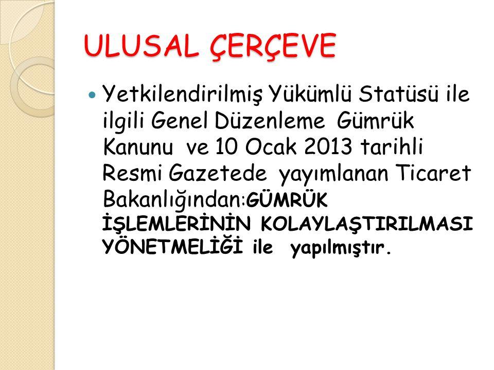 ULUSAL ÇERÇEVE