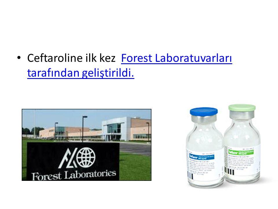 Ceftaroline ilk kez Forest Laboratuvarları tarafından geliştirildi.