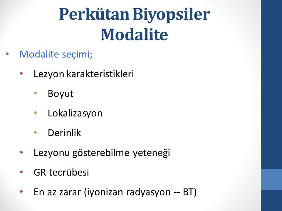 Perkütan Biyopsiler Modalite