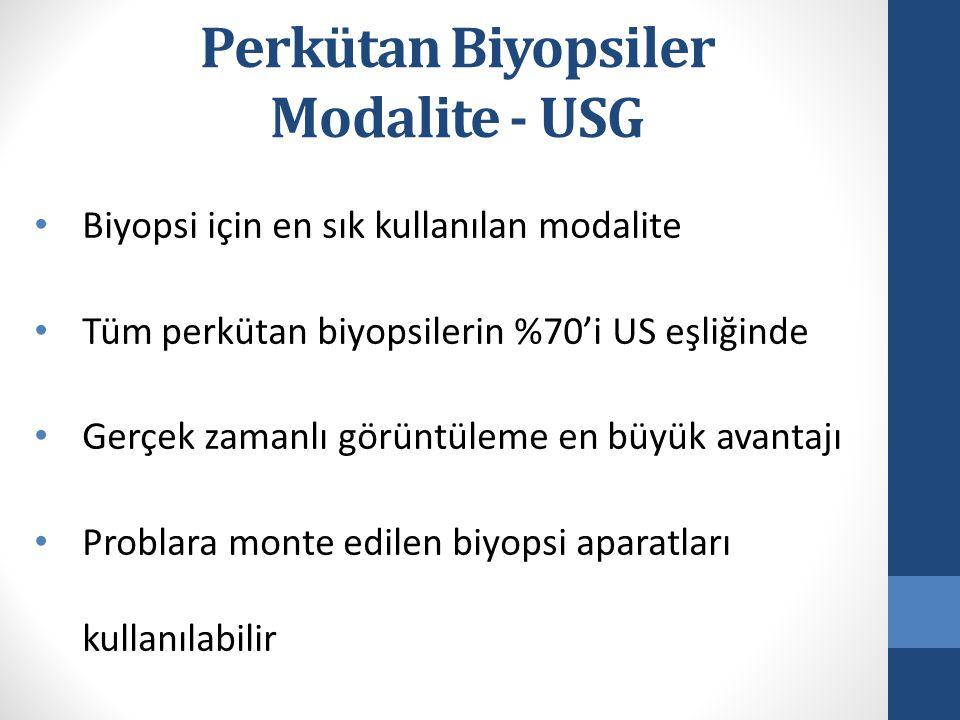 Perkütan Biyopsiler Modalite - USG