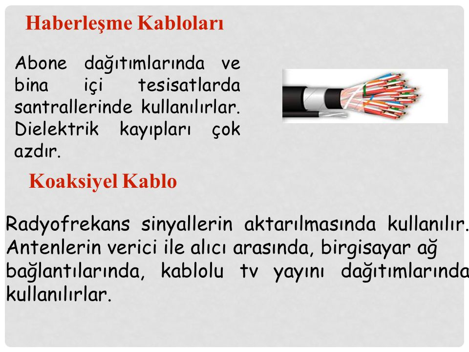 Haberleşme Kabloları Koaksiyel Kablo