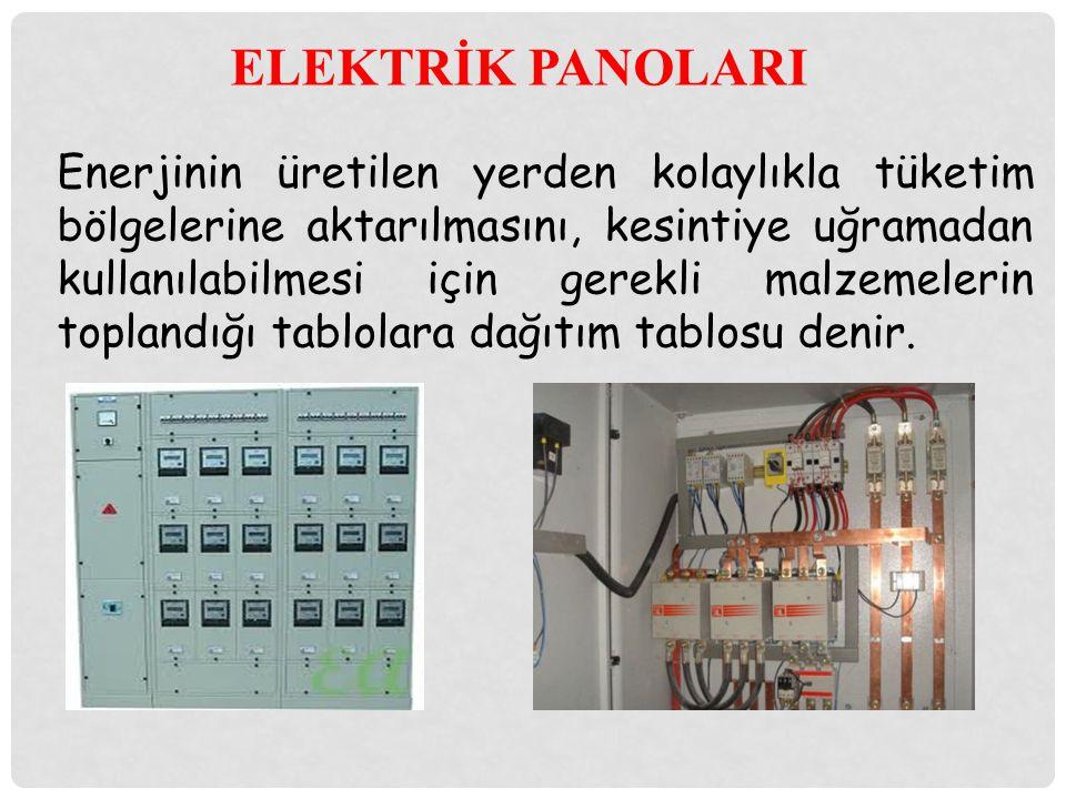 ELEKTRİK PANOLARI