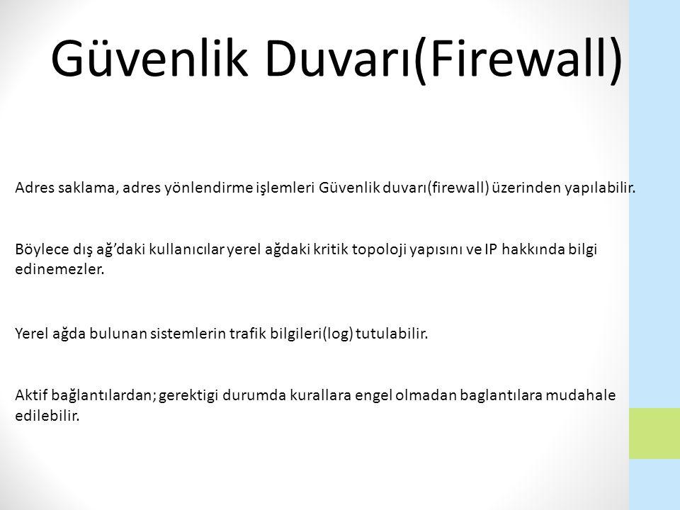 Güvenlik Duvarı(Firewall)