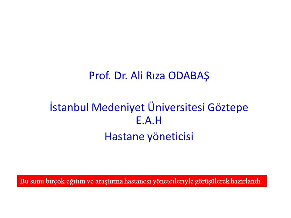 İstanbul Medeniyet Üniversitesi Göztepe E.A.H