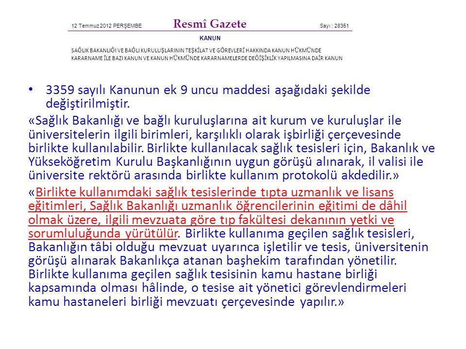 12 Temmuz 2012 PERŞEMBE Resmî Gazete. Sayı : 28351. KANUN.