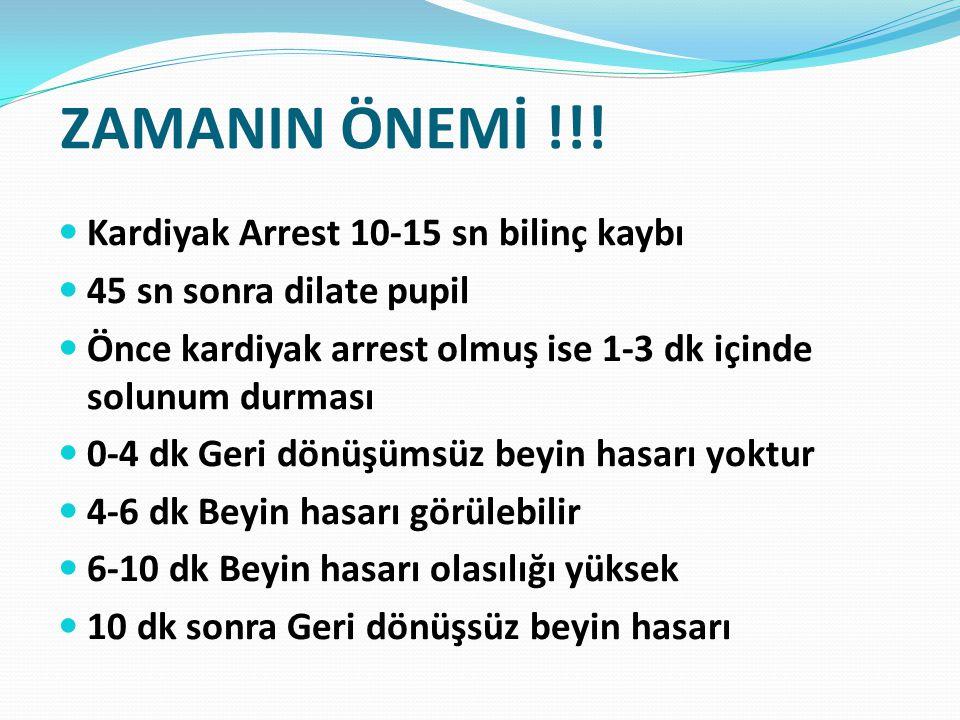 ZAMANIN ÖNEMİ !!! Kardiyak Arrest 10-15 sn bilinç kaybı