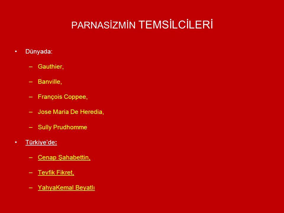 PARNASİZMİN TEMSİLCİLERİ