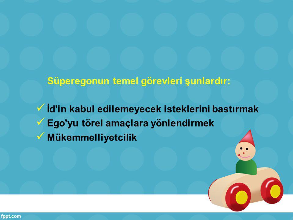 Süperegonun temel görevleri şunlardır: