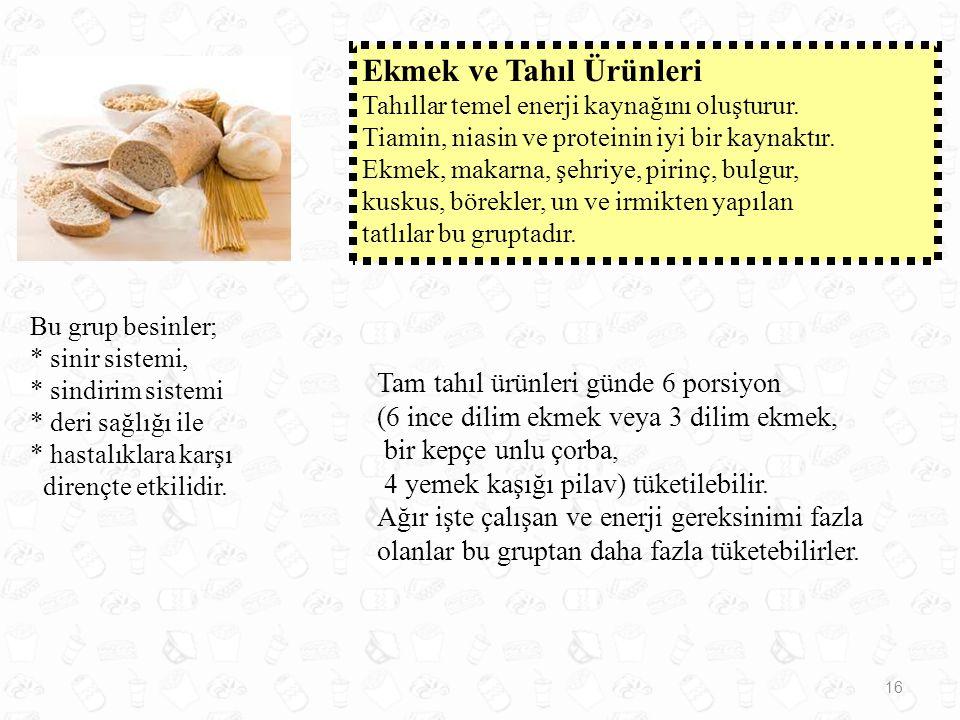 Ekmek ve Tahıl Ürünleri