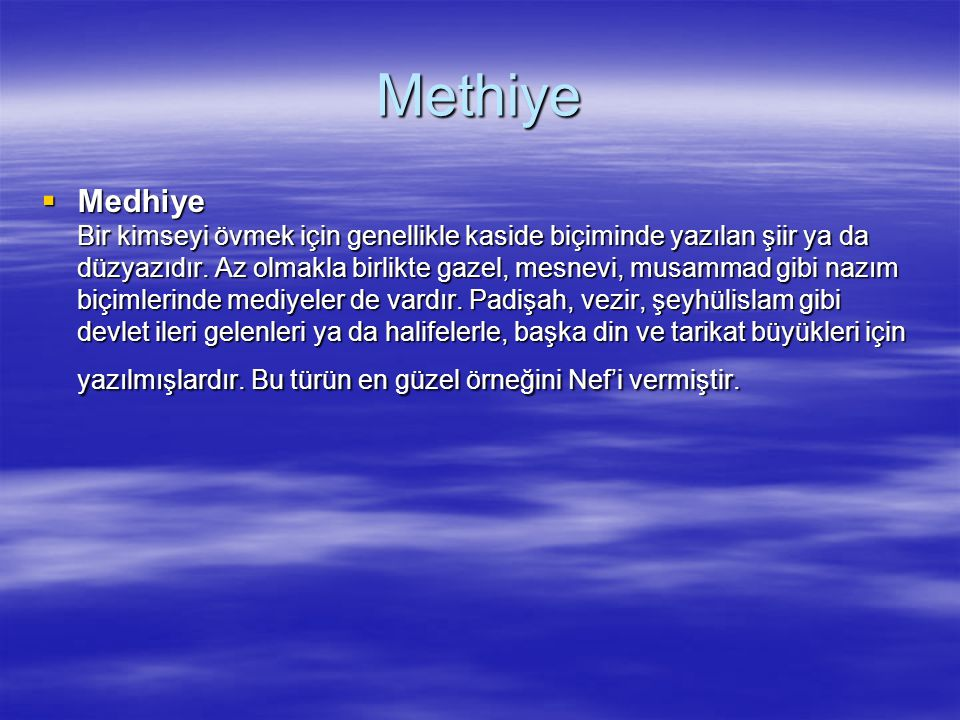 Methiye