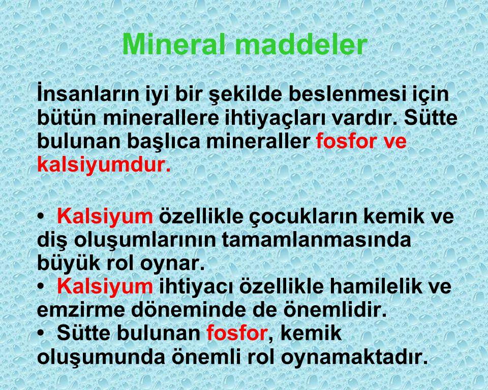 Mineral maddeler
