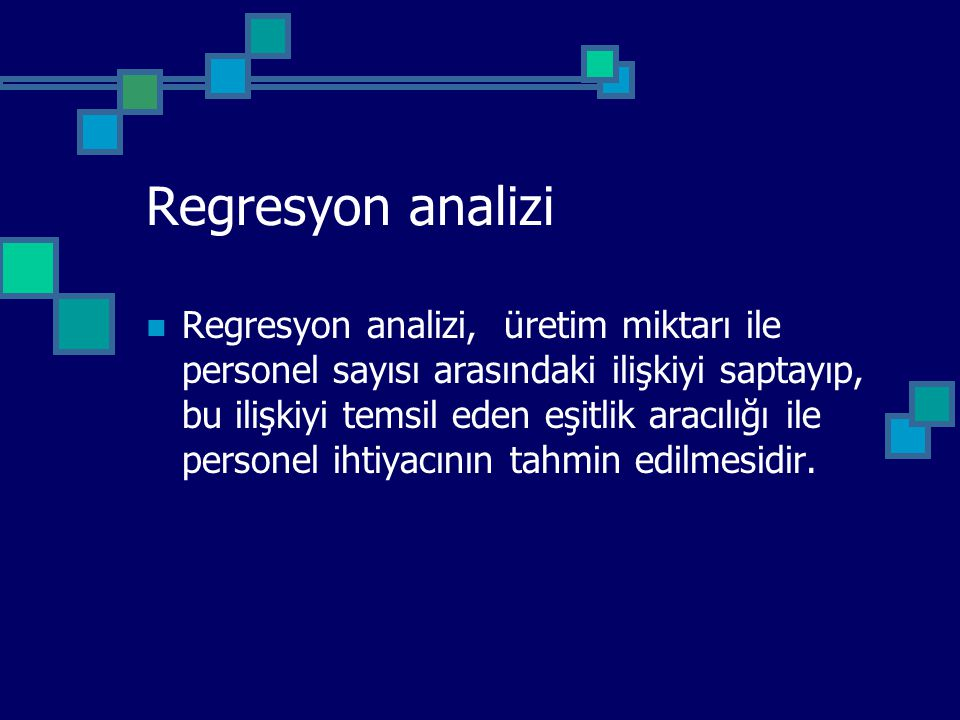 Regresyon analizi
