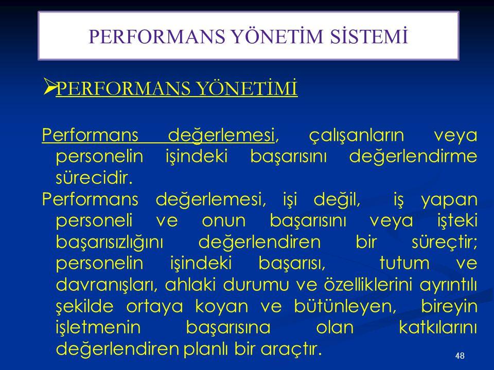PERFORMANS YÖNETİM SİSTEMİ